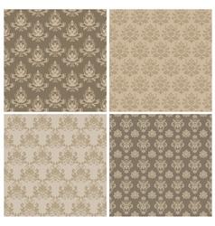 damask ornamental pattern vector image