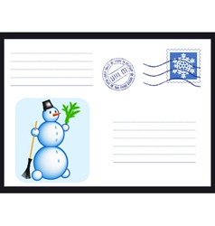 Envelope on black vector image