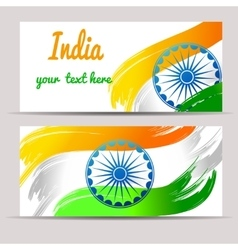 Happy india independence day postcards vector