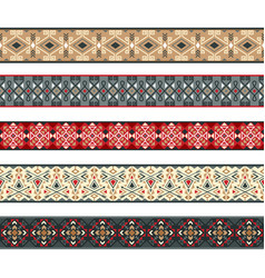 American indian ribbons pattern set vector