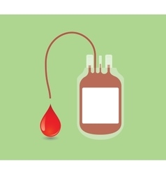 blood donation concept with bag and vector image