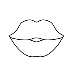Body part female design mouth icon vector