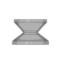 Box for pizza icon black monochrome style vector image