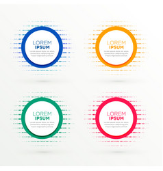 Circular banners set in halftone style vector