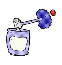 Comic cartoon spray can vector