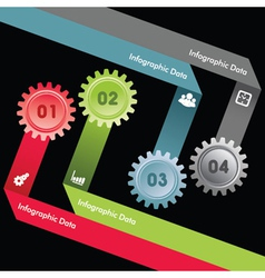Creative gears info-graphics option banner vector