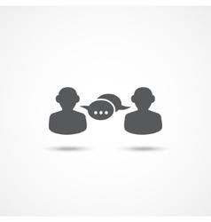 Dialog icon vector