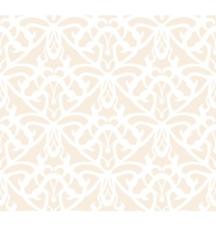 Elaborate white vintage seamless pattern on beige vector