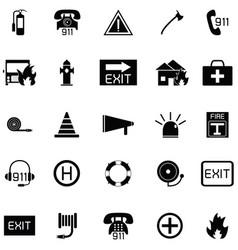 Emergency icon set vector