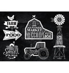 Farm vintage chalk vector