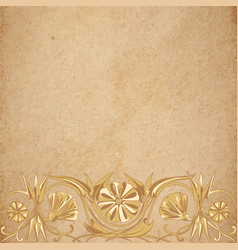 flower parchment background vector image vector image