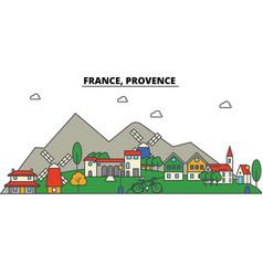 France provence city skyline architecture vector