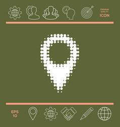 map pointer halftone logo vector image vector image