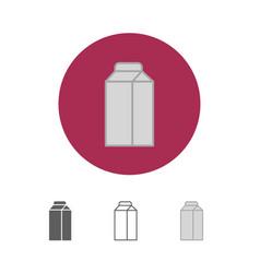 milk box icon vector image vector image