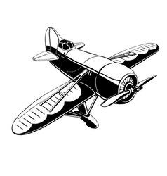 old sport plane vector image vector image