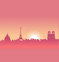 paris scenery at morning vector image vector image