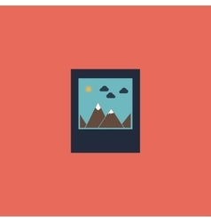photo landscape web icon vector image