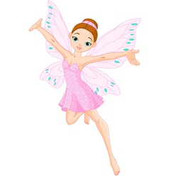 pink fairy in flight vector image