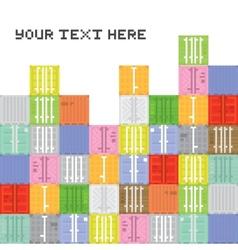 Pixel art container stack vector image vector image