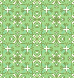 Seamless Green Geometric Pattern vector image