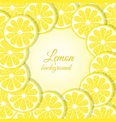 Slices of lemon background vector