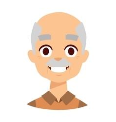 Smiling grandpa vector