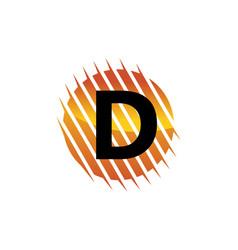 technology letter d vector image