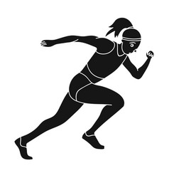 the girl is engaged in athleticsthe actives in vector image