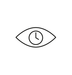 time in eye icon vector image vector image