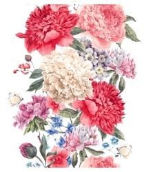Vintage floral seamless border vector image vector image