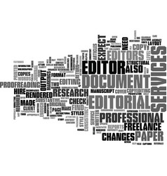 What to expect from editorial services text word vector