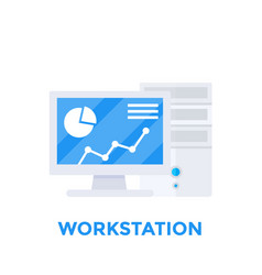 workstation computer vector image vector image