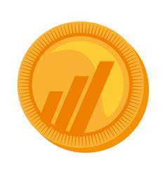 worldcoin money golden icon vector image