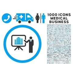 Architecture presentation icon with 1000 medical vector