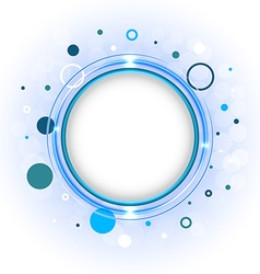 Simple with circles and major blue circle in the vector