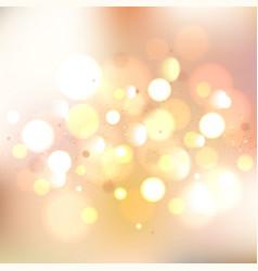 Gold glitter bokeh lights background defocused vector