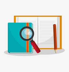 File examination related icons image vector