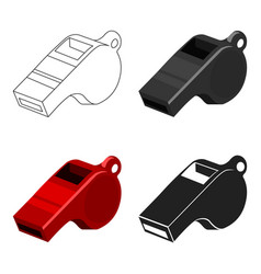 Whistle icon cartoon single sport icon from the vector