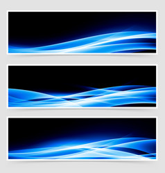 Abstract blue speed light line headers vector