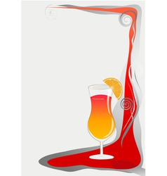 Cocktail card background vector
