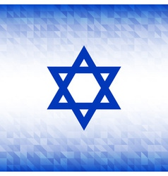 Abstract background using israel flag colors vector