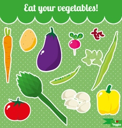 I love veggies vector