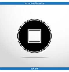 Stop web flat icon vector