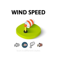 Wind speed icon in different style vector