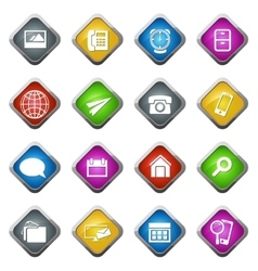 Community icons set vector