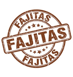Fajitas brown grunge round vintage rubber stamp vector