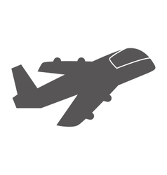 Airplane silhoutte transportation design vector