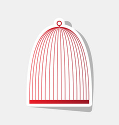 Bird cage sign new year reddish icon with vector