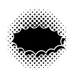black comic speech bubble vector image vector image