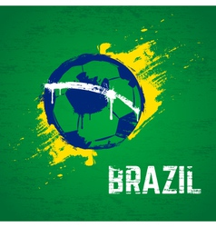 Brazil football background vector